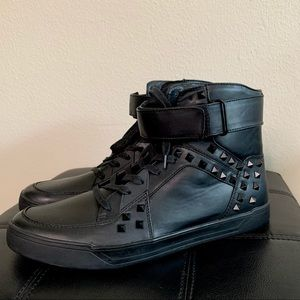 Steve Madden Faux Leather  Aster Studded High Tops